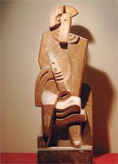 Jacques LIPCHITZ. Seated Harlequin with Clarinet. 1919-1920