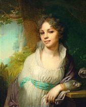 Vladimir BOROVIKOVSKIY. Portrait of Maria Lopukhina. 1797