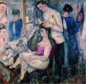 М.Ф. ЛАРИОНОВ. <strong>Проститутка у парикмахера.</strong> 1914