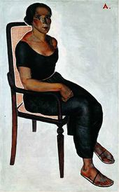 Alexander DEINEKA. Girl Sitting on a Chair. 1924