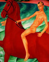 Kuzma PETROV-VODKIN. The Bathing of the Red Horse. 1912