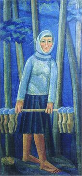 Mikhail BOYCHUK. Dairy-maid. Early 1920s