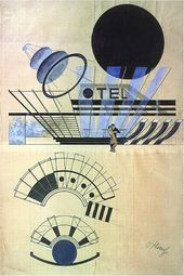 Alexander KHVOSTENKO-KHVOSTOV. Glacier Hotel. Sketch for 'Johnny Plays on' opera by Ernst Krenek. 1929-30