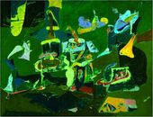 Dark Green Painting. 1948
