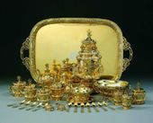 Lot 18. Grand Duke. Constantin Nicholaevich: A Highly Important and Rare Russian Gilded Silver Extensive Tea and Coffee Service, Sazikov, Moscow, 1848