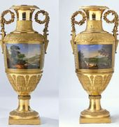 Lot 61. A Magnificent Pair of Russian Porcelain Palace Vases