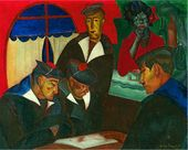 Lot 75. Boris Dmitrievich GRIGORIEV (Russian, 1886-1939). Sailors at a Cafe, Boui Bouis