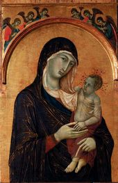 Duccio di Buoninsegna (Siena c.1255–1318/19). The Virgin with Child and Six Angels, 1300–1305