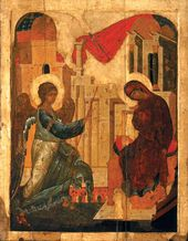 Andrei RUBLEV (c.1360–1430) and Daniil CHERNY. Annunciation. 1408
