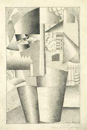 Kazimir MALEVICH. Portrait of a Builder. 1913