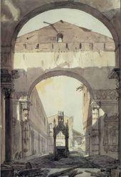 Alexander BRULLOV. The Basilica of St. Paul in Rome. December 1823 – May 1824