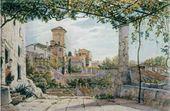 Franz L. CATEL. Villa Malta in Rome. Сa. 1840