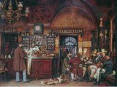 Ludwig J. PASSINI. Cafe Greko. 1856