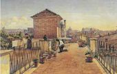 Anton I. IVANOV. View of Rome from the Roof of His House. 1854
