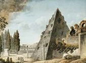 Anonymous. View of the Pyramid of Caio Cestio. End of 18th century