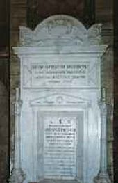 Rome. Church of St Andrea delle Fratte. Tomb on Orest Kiprensky's grave