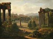 Rome. Ruins of the Forum. 1816