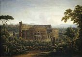 A View in Rome. Colosseum. 1816