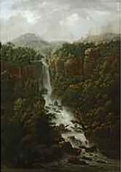 Waterfalls of the Pope's Palace in the Environs of Rome. 1818