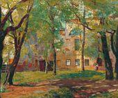 Old Moscow. Neskuchny Garden. 1918