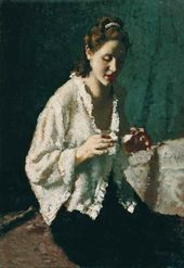 Portrait of a Woman in a White Blouse. 1935