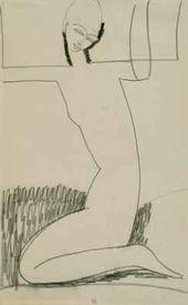 Caryatid, Kneeling. 1911–1913