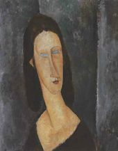 Blue Eyes (Portrait of Jeanne Hébuterne). 1917