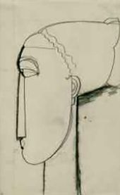 Woman's Head, in Left Profile (with Chignon). 1911–1913