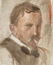 Vasily Mate (Mathé). Portrait of Valentin Serov. 1910s
