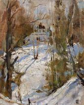 Winter in Abramtsevo. 1886. Sketch