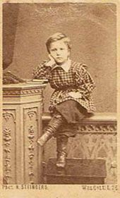 Valentin Serov as a child. 1869-1871 (?)