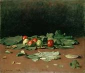Ilya Repin. Apples and Leaves. 1879.