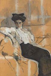 Portrait of Henrietta Girshman. 1904.