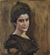 Portrait of Sofia Lukomskaya. 1900.