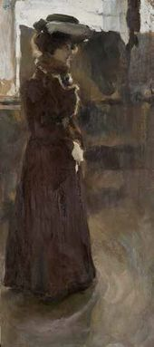 Semyon Nikiforov. Standing Female Model. 1902.