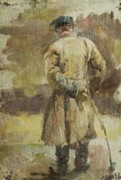 Semyon Nikiforov. Peasant with a Stick. 1898.