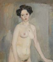 Kuzma Petrov-Vodkin. A Nude Female Model. 1901–1902.