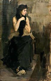 Mikhail Shemyakin. A Female Model. (At Valentin Serov's Studio). 1903.
