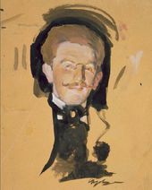 Valentin Serov. Portrait of Léon Bakst. First half of the 1900s
