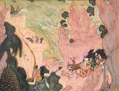 Valentin SEROV. Sketch for the Curtain for the Ballet 'Scheherazade'