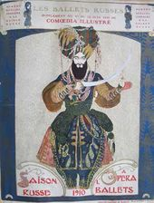 Cover of the special issue of the 'Comoedia Illustré' magazine with the programme of the Saisons Russes in Paris (design by Léon Bakst). 1910