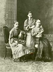 (From left): Nadya and Masha Simonovich, Olya Trubnikova. St. Petersburg. 1879