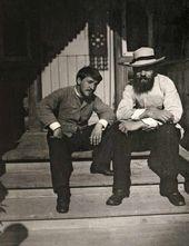 Valentin Serov and Ilya Ostroukhov. Abramtsevo. 1887