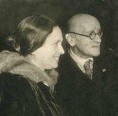 Olga Serova and Igor Grabar. 1942. Moscow