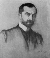 Valentin Serov. Portrait of Viktor Obninsky. 1906