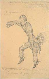 Valentin Serov. Ivan Troyanovsky. Caricature. 1903–1904