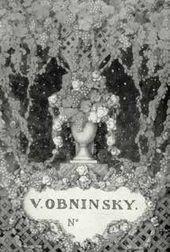 Konstantin Somov. Ex-libris design of Viktor Obninsky. 1907.