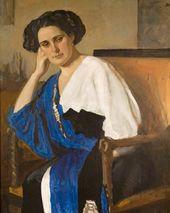 Valentin Serov. Portrait of Yelena Balina. 1911