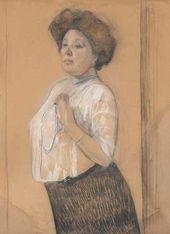 Valentin Serov. Portrait of Nadezhda Lamanova. 1911
