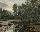 An Overgrown Pond. Domotkanovo. 1888